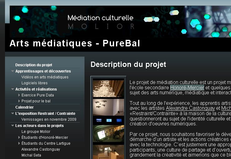 Arts médiatiques - PureBal