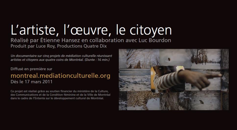 Documentaire L'artiste, l'oeuvre, le citoyen