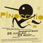 Affiche de la pièce Pinocchio, Théâtre La Roulotte