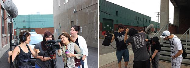 Ateliers de vidéo et tournages. Crédit photos: Craig Commanda et Cliver Perez Rojas/ Wapikoni Mobile